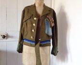 Unisex Army Woollen Jacket.size 8 to 14.