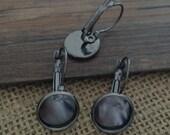 20pcs 12mm gunmetal  Earrings base/Clips