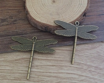10pcs  45x42mm  Dragonfly charm  —antique bronze charm pendant Jewelry Findings