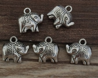 30pcs 11mmx11mm   Animal Elephant