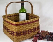 "BASKET PATTERN ""Patsy"" Square Market Basket"