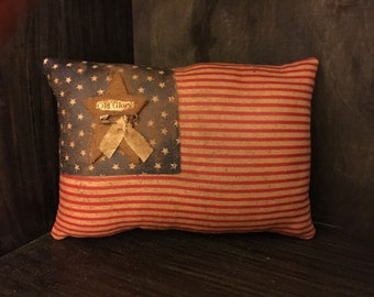 "Primitive American Flag Bowl Filler / Ornie ""Old Glory"""