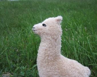 Soft toy beige alpaca, plush toy Llama, alpaca  stuffed toy