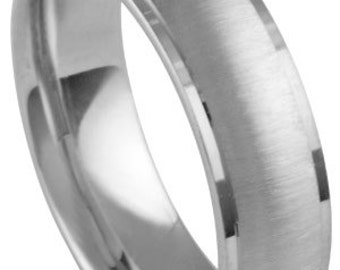 14K 6.5mm men's band