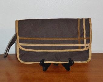 Vintage 70's/ 80's brown clutch