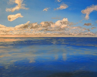 Clouds out to Sea - 12 x 9.5 - Giclee Print