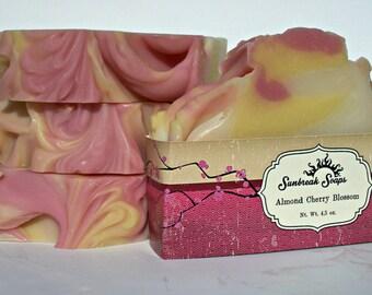 Almond Cherry Blossom Artisan Soap, Handmade Soap