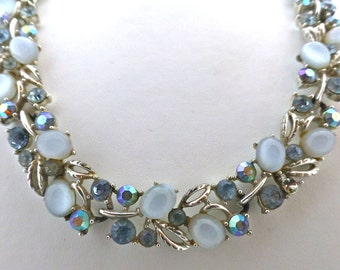 Lisner Sparkling Pale Blue  Moonstone Demi Parure