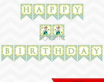 INSTANT DOWNLOAD - Frozen Fever Happy Birthday Banner