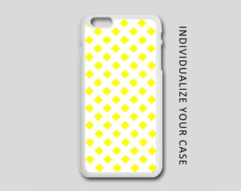 Yellow Diamond iPhone Case, Pattern iPhone Case, Pattern Samsung Galaxy Case, iPhone 6, iPhone 5, iPhone 4, Galaxy S4, Galaxy S5, Galaxy S6