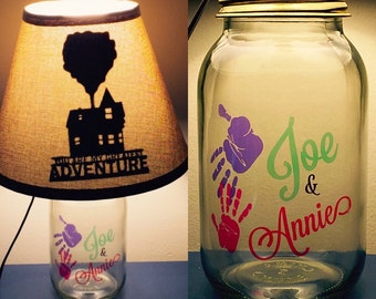 Up Inspired Mason Jar Character Lamp