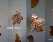 Garden or Window Autumn Leaves Copper Decoration