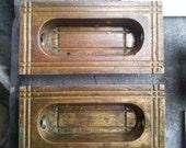 set of 4 brass window sash pulls