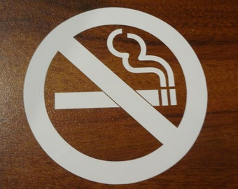 No Smoking Decal Sign Custom DIY & Save Indoor or Outdoor Choice Color Vinyl Letters Business Sign Decor Do It Yourself Save Boutique Barber