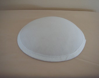 White Round Base Hat for Dance Costumes, One Size (H-6)