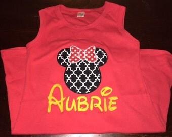 Minnie Mouse Dress- Disney Shirts- Minnie Mouse Shirt