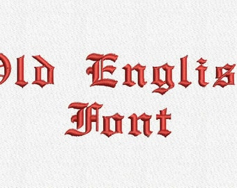 Old English Embroidery Font