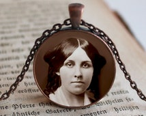 Louisa May Alcott, Author, Pendant/Necklace Jewelry, Historic Women Necklace Jewelry, Influential Women Photo Jewelry Glass Pendant Gift