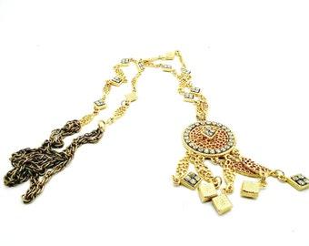 Long pendant necklace women, necklace pendant vintage, statement necklaces for women, bohemian pendant necklace, boho necklace long