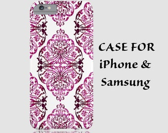 iPhone 6 case iPhone pink case iPhone pattern case 3D geometric case vintage case iPhone 6 plus iPhone 6 case iPhone 5 5s 5c 4S pink case
