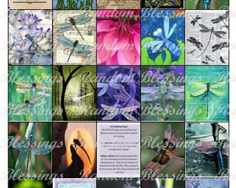 Digital Download *Dragonfly* stickers for your Erin Condren Planner