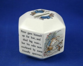 VINTAGE Wedgwood Peter Rabbit Money Box Piggy Bank - Original Christening Gift/Easter - Beatrix Potter, Made in England