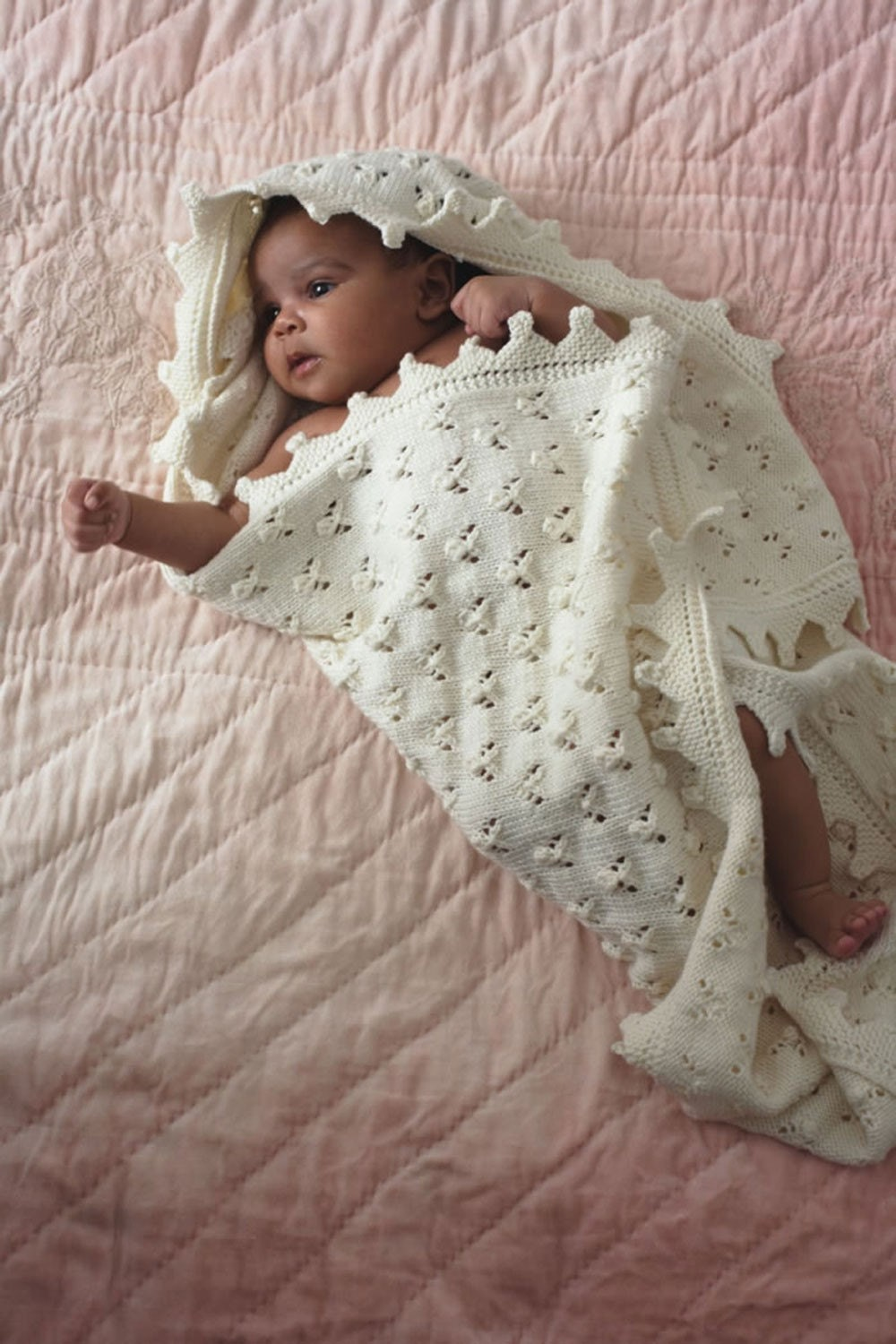 Free Knitting Pattern Baby Shawl Dk : baby knitting pattern for baby shawl blanket dk yarn