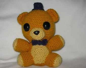 Golden Freddy Fazbear plush Amigurumi