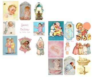 Sweet Babies Digital Collage Set
