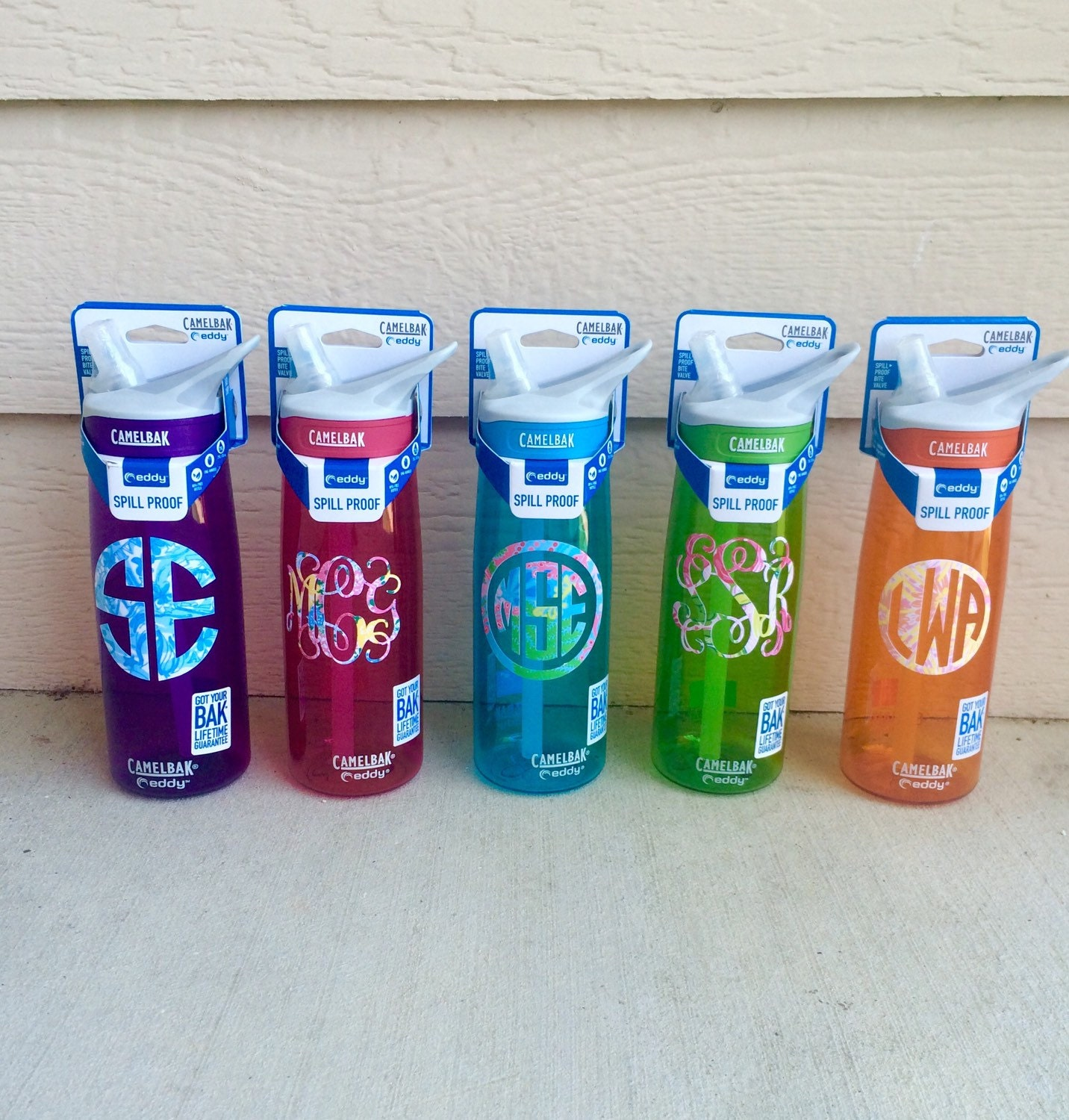 Lilly Pulitzer Camelbak Monogram Water Bottle By