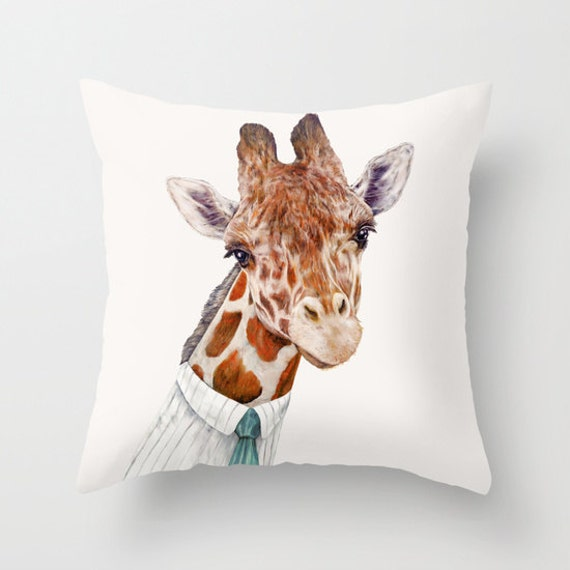 Giraffe Decorative Pillow : Giraffe THROW PILLOW Decorative Cushion Giraffe Decor