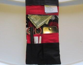Skull Nurse Pocket Organizer, Lab Coat Pocket Organizer, Scrubs Pocket Organizer