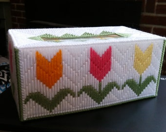 Tulips Tissue box cover