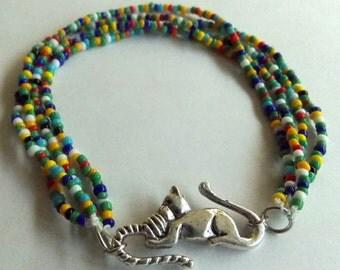 Colorful Kitty Bracelet