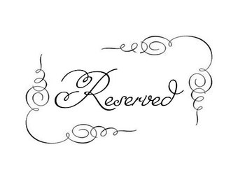 Rush Fee RESERVED