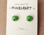 Minimalist Minecraft Creeper Studs