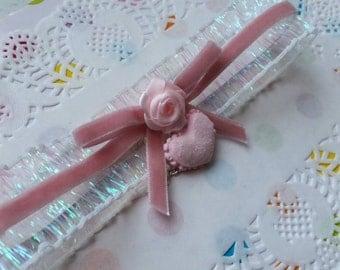 Sweet Heart Rose Glitter Choker- Hime Gyaru Sweet Lolita Fairy Kei