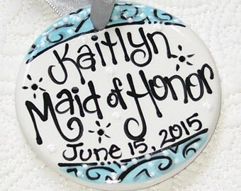 Personalized Maid of Honor Ornament