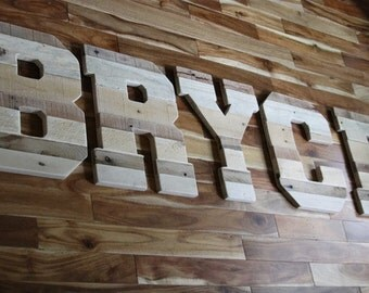 Large Wooden Letters, Rustic Wedding, Rustic Home Decor,  Personalized Baby Gifts, Family Name, Industrial Decor, Reclaimed Wood