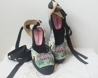 Espadrilles 6, Womens Espadrilles, Wedge  Espadrilles, Vintage