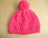 Toddler Hat Handknitted, Pink