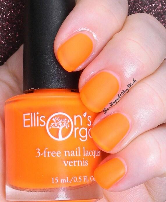 Orange Nail Polish Nz: MATTE Neon Orange Nail Polish