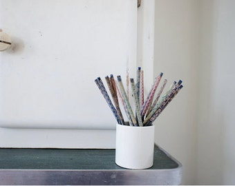 Vintage graphite pencils // slate pencils // french school supplies // 1940s french school room // teal lavender decor