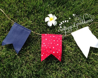 Mini 4th of July Pennant Banner, Independance Day Banner, Pennant Banner, Stars and Stripes Banner
