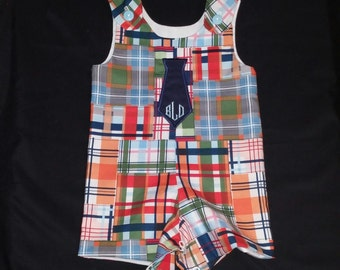Boys Plaid Tie Shortalls or Longalls - Buy 3 or more and save 10%...