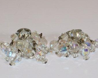 Vintage cascading crystal earrings.