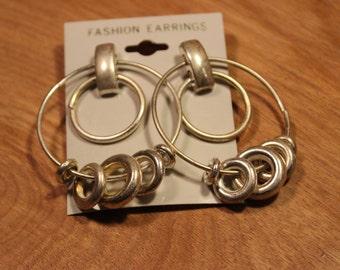Silver Multi Circle Earrings, item #162
