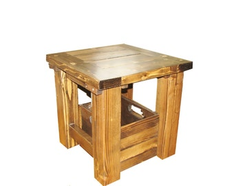 Side Table, Rustic, Country, all Wood, almost any color