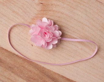 FREE SHIPPING! Baby Headbands - Pink Headband, Pink Flower Headband, Newborn Headband, Baby Girl Headband
