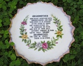 Vintage Grandmother Collector Plate
